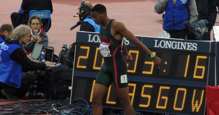 Sprinter Mitchel Davis