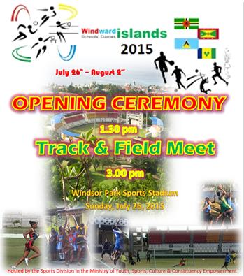 Windward Islands Schools Games on tomorrow