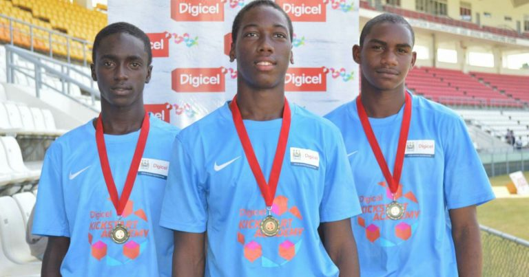 Three (3) selected from Digicel Kick Start Program