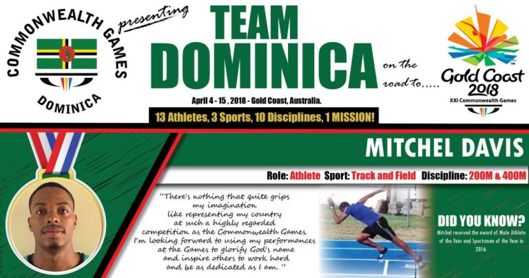 Injuries cost Dominica big time at 2018 Commonwealth Games