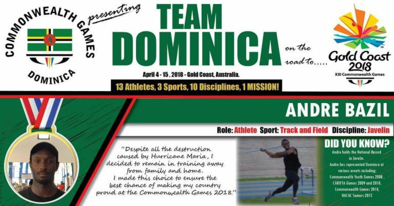 Season-Best For Dominica's National Record Holder Andre Bazil