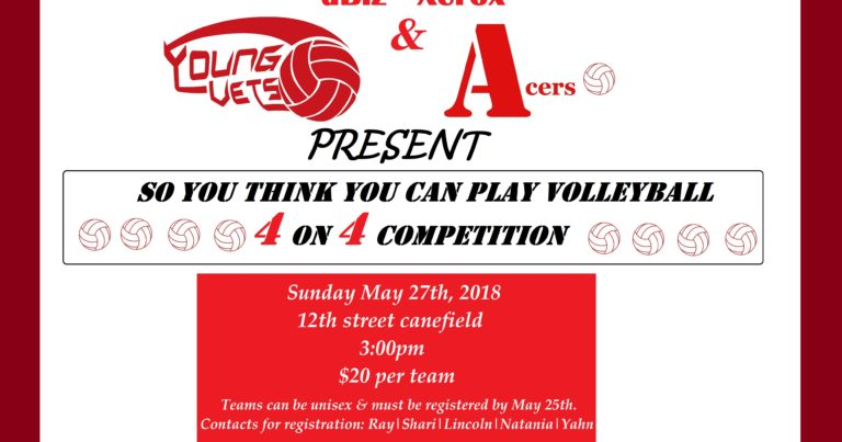 dBiz-Xerox Young Vets & Acers Host 4 on 4 Volleyball Competition